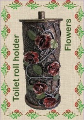 Tokreen in a Box - Toilet roll holder - Flowers - see 3 photo's