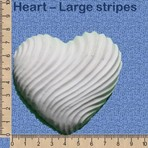 Heart - Large stripes